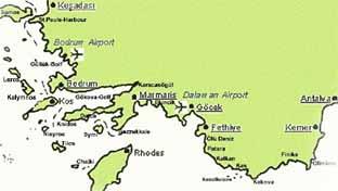 Türkische ägäis Karte.Segeln Und Urlaub